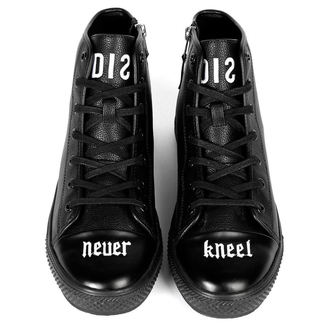 scarpe da ginnastica alte unisex - NEVER KNEEL - DISTURBIA