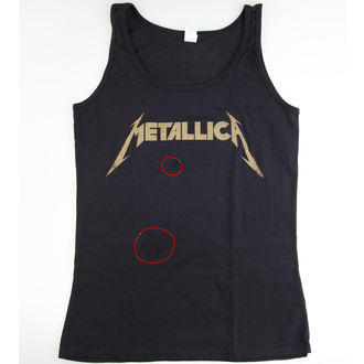 top donna Metallica - Hetfield Iron Cross Guitar - Nero - DANNEGGIATO, Metallica