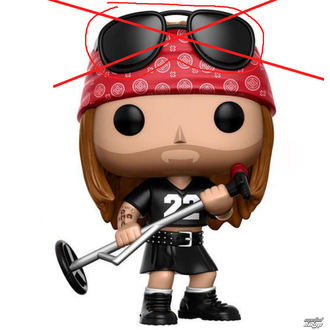 figurina Guns N' Roses - Axl Rose - DANNEGGIATO, Guns N' Roses