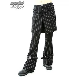 pantaloni donna Aderlass - Gonna Pantaloni Pin Stripe (Nero-Bianco), ADERLASS