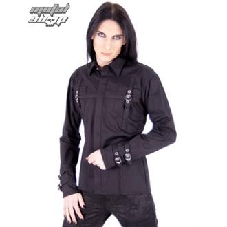 camicia uomo Aderlass - Serratura Shirt Fine Denim Nero, ADERLASS