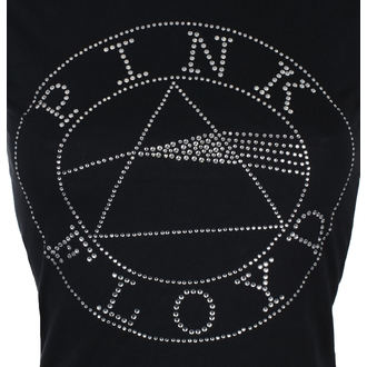 t-shirt metal donna Pink Floyd - Circle Logo Diamante - ROCK OFF, ROCK OFF, Pink Floyd