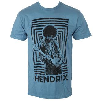 t-shirt metal uomo Jimi Hendrix - AUTHENTIC SQUARES BLUE - BRAVADO, BRAVADO, Jimi Hendrix