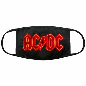 Mascherina AC/DC - Neon Logo - Nero - ROCK OFF, ROCK OFF, AC-DC