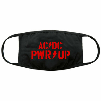 Mascherina AC/DC - PWR-UP Logo - Nero - ROCK OFF, ROCK OFF, AC-DC
