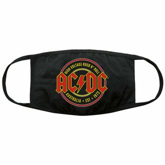 Mascherina AC/DC - Est. 1973 - Nero - ROCK OFF, ROCK OFF, AC-DC