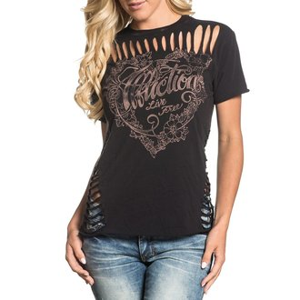 t-shirt hardcore donna - Free Heart - AFFLICTION, AFFLICTION