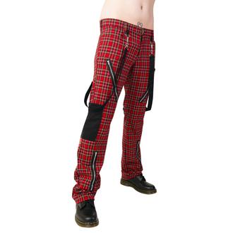 pantaloni Nero Pistol - Punk Pantaloni Tartan Rosso-Verde, BLACK PISTOL