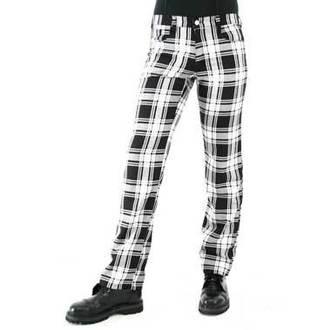 pantaloni uomo Nero Pistol - Tartan Pantaloni Nero-bianco, BLACK PISTOL