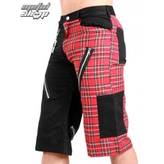 pantaloncini uomo Nero Pistol - Tartan Short Pantaloni Nero/Rosso, BLACK PISTOL