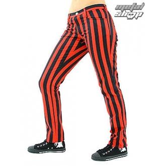 pantaloni donna Nero Pistol - Vicino Pantaloni Stripe Nero/Rosso
