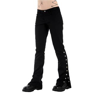 pantaloni donna Nero Pistol - Pulsante Hipster Denim (Nero), BLACK PISTOL