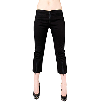 pantaloncini 3/4 donna Nero Pistol - Zip Slacks Denim Nero