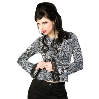 T-shirt gotica e punk donna - Ladys Longsleeve Jersey Leppard Grey - ADERLASS, ADERLASS