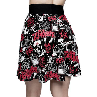 Da donna gonna KILLSTAR - ROB ZOMBIE - Bambino Morte pattinatore - NERO, KILLSTAR, Rob Zombie