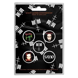 Distintivi Marilyn Manson - Cross Logo - RAZAMATAZ, RAZAMATAZ, Marilyn Manson
