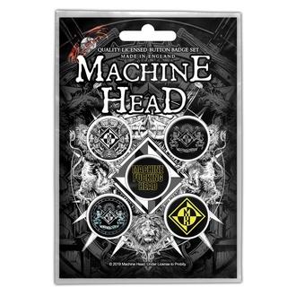 Distintivi Machine Head - Crest - RAZAMATAZ, RAZAMATAZ, Machine Head