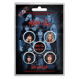Distintivi Mötley Crüe - Girls, Girls, Girls - RAZAMATAZ, RAZAMATAZ, Mötley Crüe