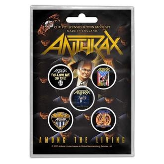 Distintivi Anthrax - Among The Living - RAZAMATAZ, RAZAMATAZ, Anthrax