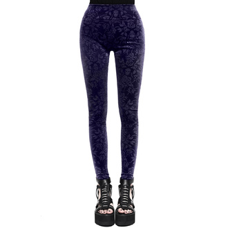 Pantaloni da donna (leggins) KILLSTAR - Bite Me - PRUGNA, KILLSTAR