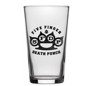 bicchiere FIVE FINGER DEATH PUNCH - KNUCKLE LOGO - RAZAMATAZ, RAZAMATAZ, Five Finger Death Punch