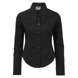 camicia KILLSTAR - Darby Pointed Collar - NERO, KILLSTAR