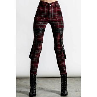 Pantaloni da donna KILLSTAR - Dead Resistance - Skinny Jeans - Blood Tartan, KILLSTAR