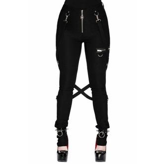 Pantaloni da donna KILLSTAR - Def Leopard - NERO, KILLSTAR