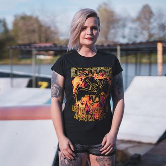 t-shirt metal donna Led Zeppelin - Black Flames - NNM, NNM, Led Zeppelin