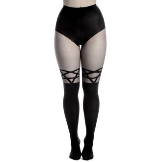 collant PAMELA MANN - Opaco Tights With Sheer  Stripe - Nero