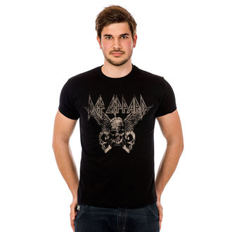 t-shirt metal uomo Def Leppard - Flying Skulls - HYBRIS, HYBRIS, Def Leppard