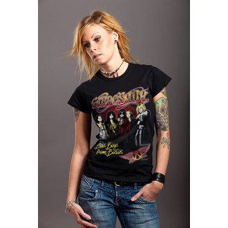 t-shirt metal donna Aerosmith - Band - HYBRIS, HYBRIS, Aerosmith
