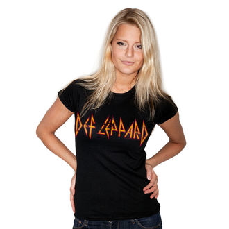 t-shirt metal donna Def Leppard - Distressed - HYBRIS, HYBRIS, Def Leppard