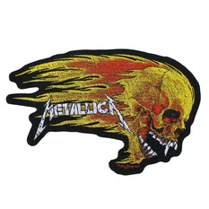 toppa METALLICA - FLAMING SKULL CUT OUT - RAZAMATAZ, RAZAMATAZ, Metallica