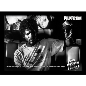 Poster incorniciato Pulp Fiction - (Bad Mother Fucker) - PYRAMID POSTERS, PYRAMID POSTERS, Pulp Fiction