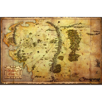 poster Lo Hobbit - Map - GB Posters, GB posters