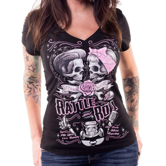 t-shirt hardcore donna - RATTLE AND ROLL - LETHAL THREAT, LETHAL THREAT