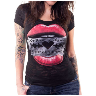 t-shirt hardcore donna - RAZOR LIPS - LETHAL THREAT, LETHAL THREAT