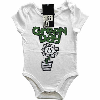 Body per bambini Green Day - Flower Pot - WHT - ROCK OFF, ROCK OFF, Green Day