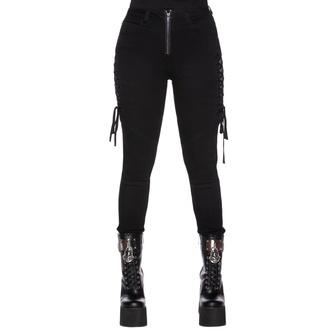 Pantaloni da donna KILLSTAR - Get Laced Skinny Jeans, KILLSTAR