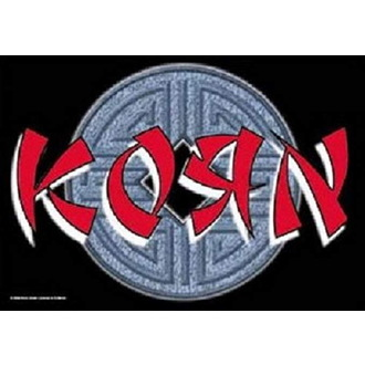 Bandiera Korn - Ball Logo, HEART ROCK, Korn
