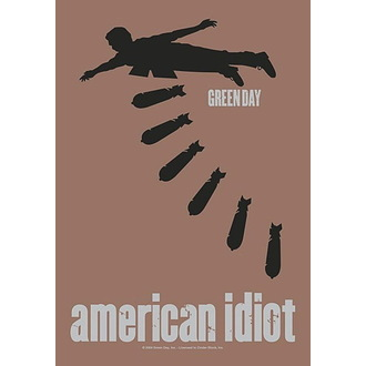 Bandiera Green Day - American idiot Bombs, HEART ROCK, Green Day