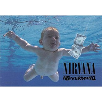 Bandiera Nirvana - Nevermind, HEART ROCK, Nirvana