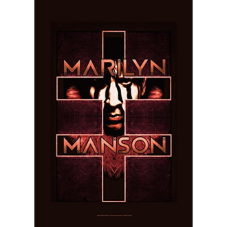 Bandiera Marilyn Manson - Double Cross, HEART ROCK, Marilyn Manson