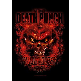 Bandiera Five Finger Death Punch - Hell to Pay, HEART ROCK, Five Finger Death Punch
