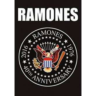 Bandiera Ramones - 40th Anniversary Logo, HEART ROCK, Ramones