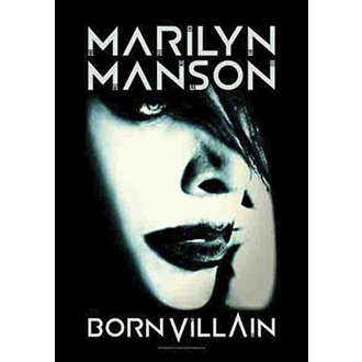 Bandiera Marilyn Manson - Born Villain, HEART ROCK, Marilyn Manson