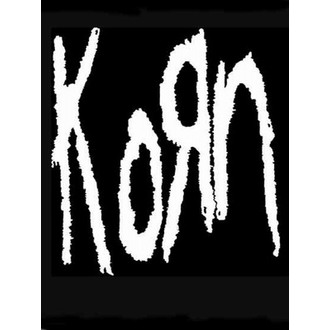 bandiera KORN - Band Logo, HEART ROCK, Korn