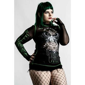 Maglietta a maniche lunghe da donna KILLSTAR - Illuminated Mesh- Nero, KILLSTAR