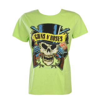 Maglietta da donna Guns N' Roses - DEATH SKULL - OCEANO COLORE VERDE - AMPLIFIED, AMPLIFIED, Guns N' Roses
